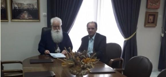 Εποικοδομητική συνεργασία με τον Σεβ. Μητροπολίτη κ. Ιγνάτιο είχε ο Δήμαρχος Ζαγοράς - Μουρεσίου Παν. Κουτσάφτης